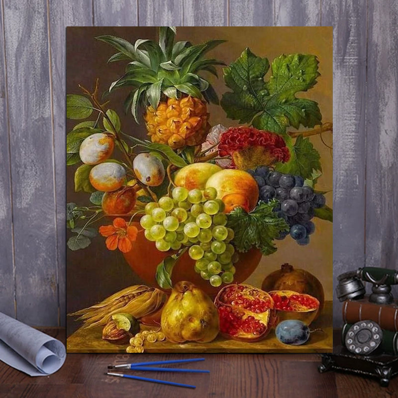 "DIY Painting By Numbers - Fruit Basket (16""x20"" / 40x50cm)"