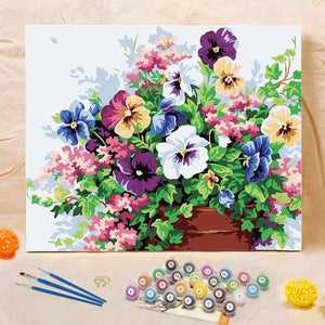 "DIY Painting By Numbers - Butterfly Flowers (16""x20"" / 40x50cm)"