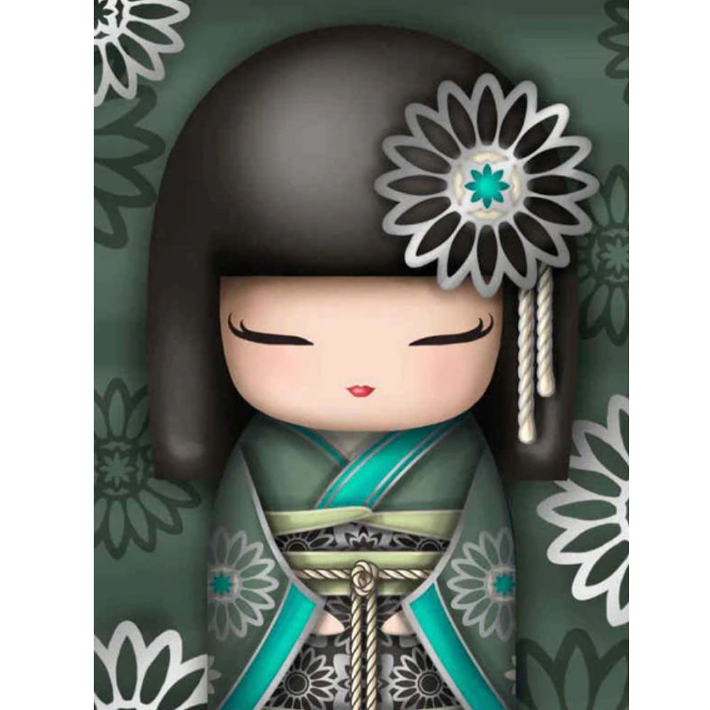 DIY Diamond Painting Kit  - Cartoon kimono girl