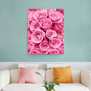 "DIY Painting By Numbers - Pink Rose (16""x20"" / 40x50cm)"