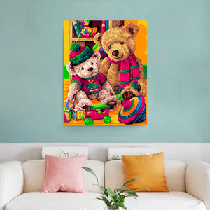 "DIY Painting By Numbers - Teddy Bear (16""x20"" / 40x50cm)"