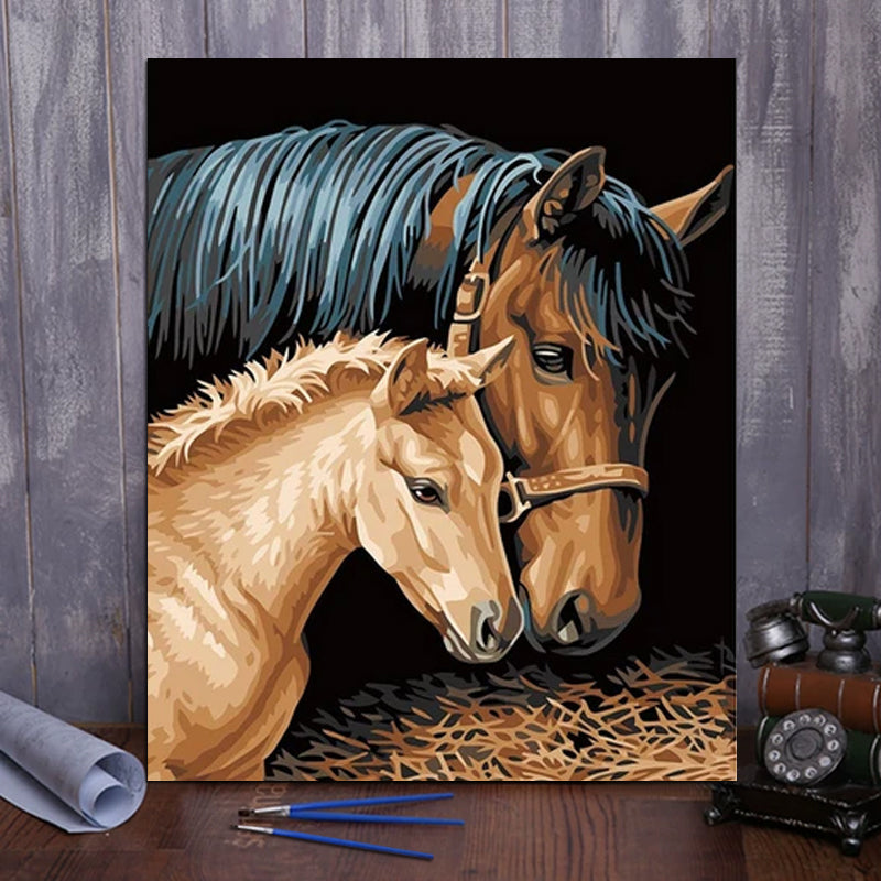 "DIY Painting By Numbers - Horses(16""x20"" / 40x50cm)"