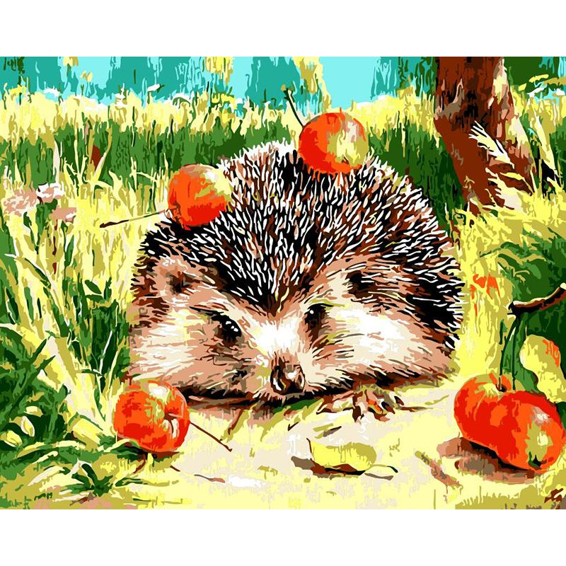 "DIY Painting By Numbers - Hedgehog  (16""x20"" / 40x50cm)"