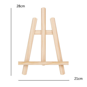 "Small Desk Easel Made of Wood (Adjustable)21x28cm/8""x11"""