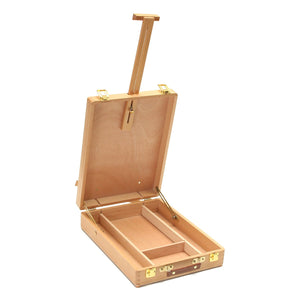 Wooden Desktop Easel & Storage Case