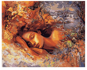 "DIY Painting By Numbers -Sweet Dream & Girl (16""x20"" / 40x50cm)"