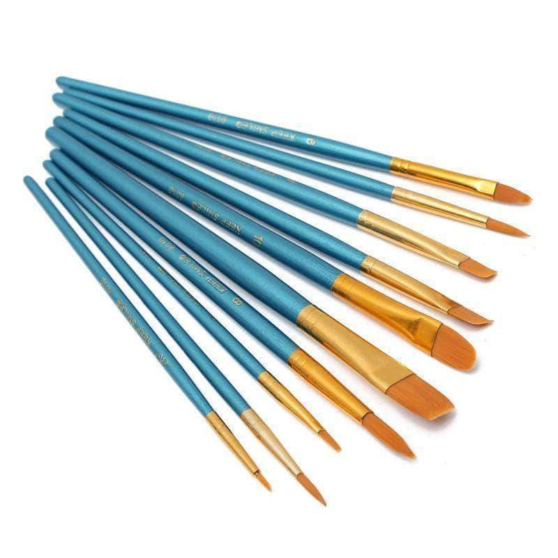 Extra 10 Pcs High Quality Paint Brushes