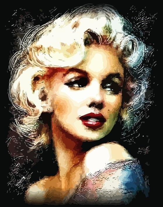 "DIY Painting By Numbers -Monroe  (16""x20"" / 40x50cm)"