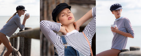 Breton stripe Top - Foxology Collage