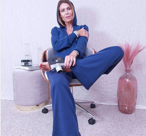 Tracy Clayton wearing Foxology Hoodie and lounge pants
