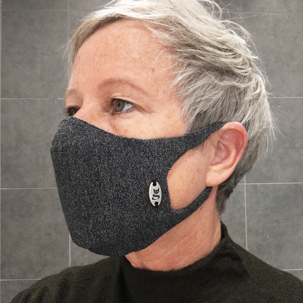 Viscose & Silver Face Mask British (2 Pack)