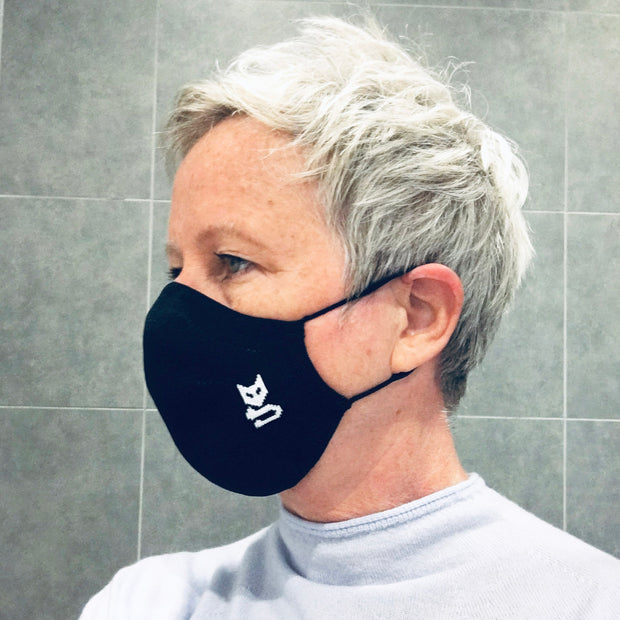 Britsih made, reusable black face mask.