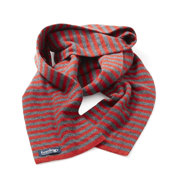 Narrow Stripe Lambswool Scarf