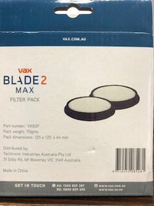 VAX VX Blade 2 Filters 80/82 Motor filter - two pack