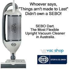 Sebo Dart Dart 2 Hepa grade S-class Filtration - Commerical Twin Motor Upright - Carpet tile and Flowtex Recommended