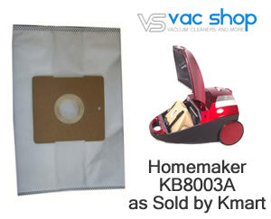 homemaker KB8003A vacuum cleaner bags