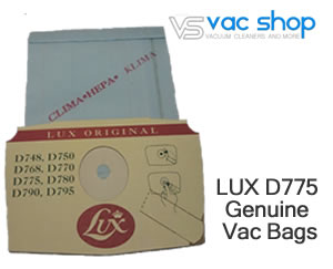 lux D775 genuine vacuum cleaner bags