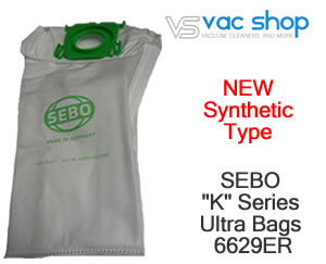 sebo 6629 synthetic vacuum cleaner bag