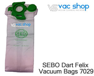 sebo 7029 synthetic vacuum cleaner bag