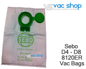 sebo 8120ER D4 D8 synthetic vacuum bag