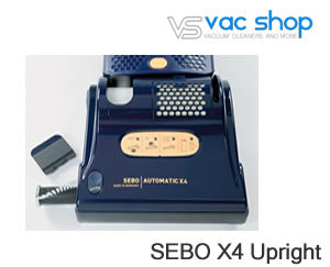 sebo x4 brush bar display