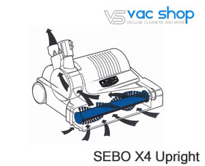 sebo x4 brush display