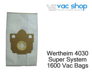 wertheim 4030 vacuum cleaner bags