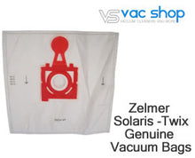 Load image into Gallery viewer, zelmer solaris twix genuine vacuum bags