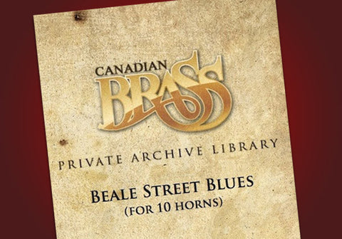Beale Street Blues- Canadian Brass Library for 2 solo horns with an 8-horn ensemble