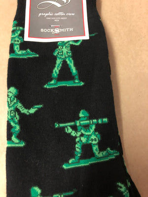 Socks; men, army men