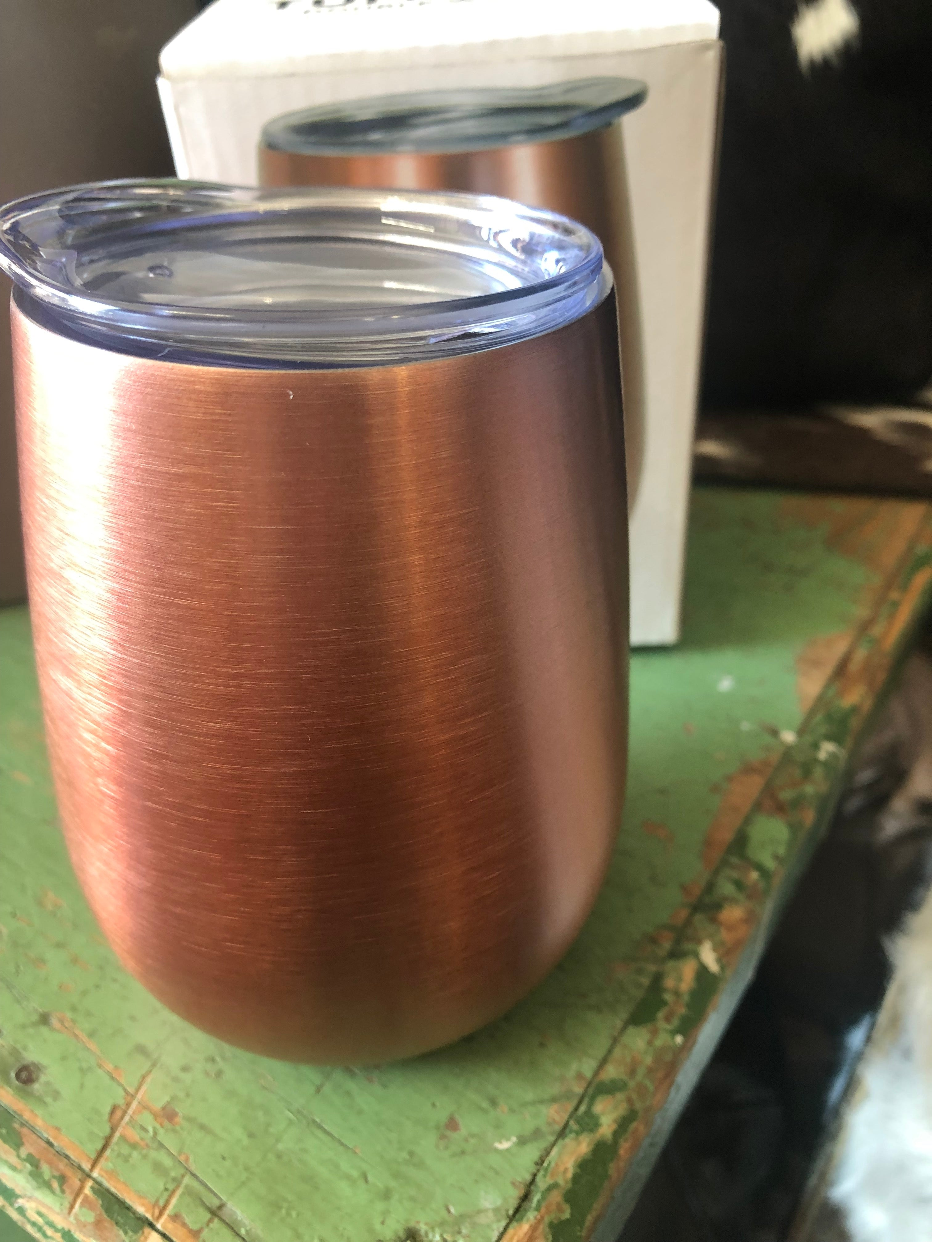 Wine Tumbler - Double Walled rose gold
