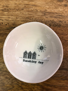 Wobbly Porcelain Dish 'Sunshiny Day'