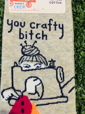 "Socks,ladies  ""Crafty Bitch"""
