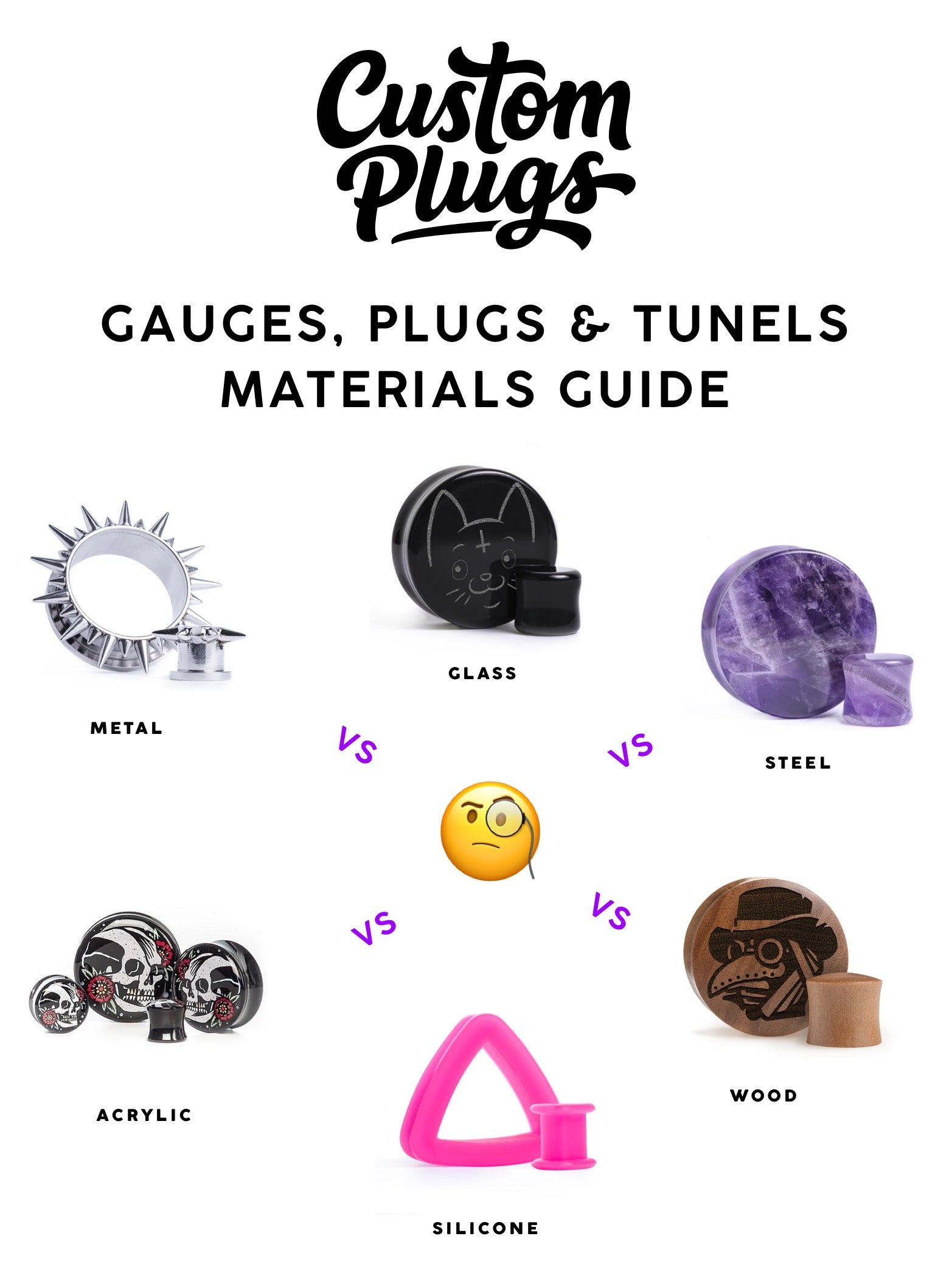 complete guide to best materials for plugs, gauges and tunnels