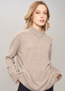 Collo alto in puro cashmere