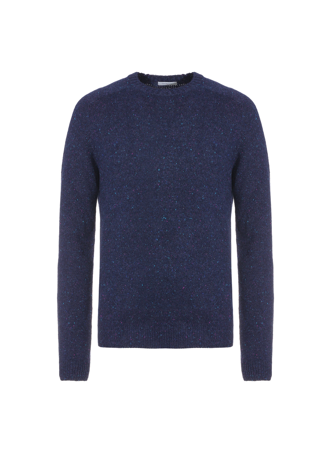 Girocollo in cashmere tweed