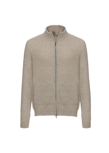 Bomber in cashmere tweed