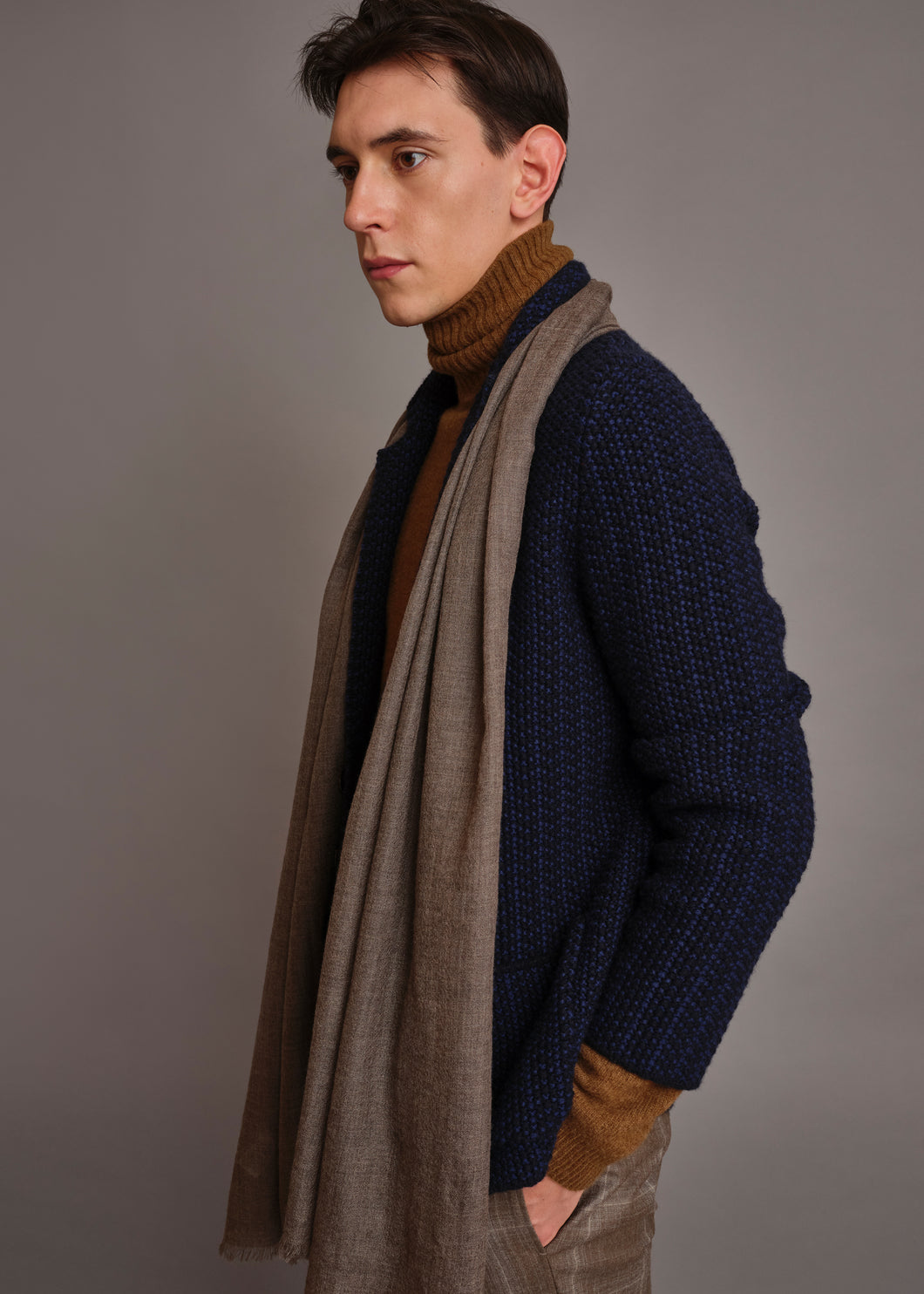 Giacca uncinetto in cashmere