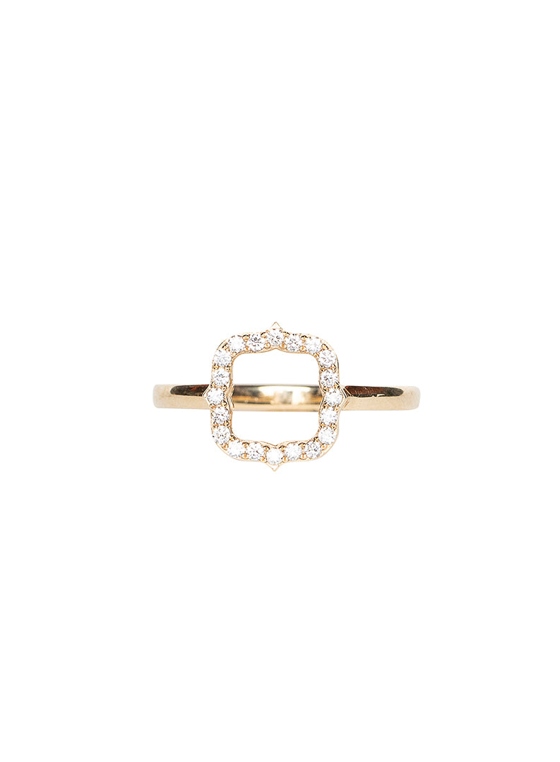 Shield Diamond Eternity Ring