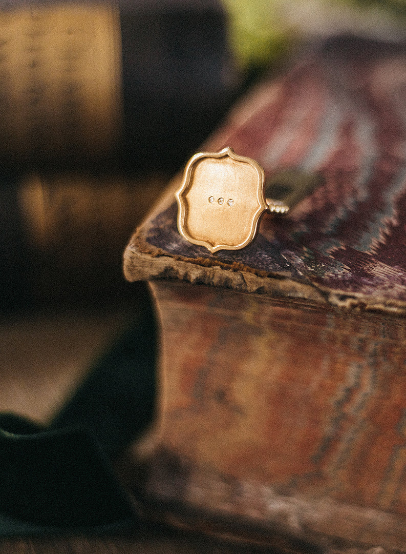 Shield Statement Ring