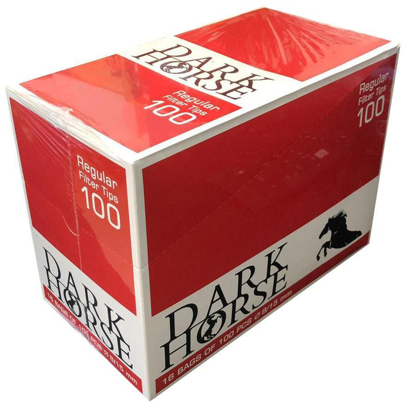 DARK HORSE Regular Filter Tips 100  RED - Cig Corp Wholesalers