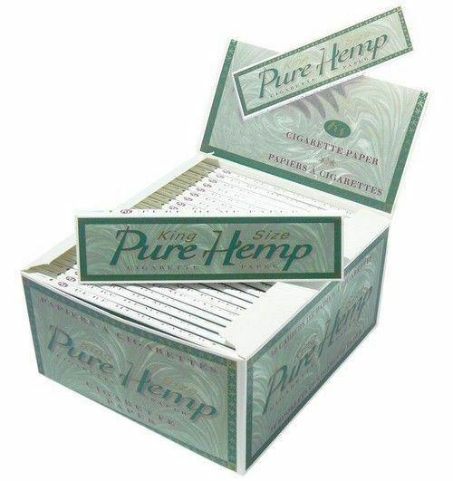 Pure Hemp KING SIZE Papers 50pk - Cig Corp Wholesalers