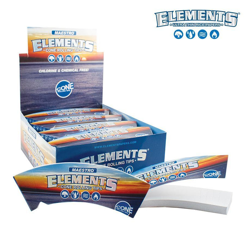 ELEMENTS CONE ROLLING TIPS 24 BOOKLETS - Cig Corp Wholesalers