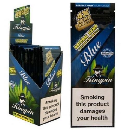 KINGPIN HEMP WRAPS BLUE 25X4 - Cig Corp Wholesalers