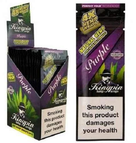 KINGPIN HEMP WRAPS PURPLE 25X4 - Cig Corp Wholesalers