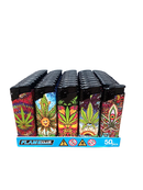 FLAMECLUB LEAF LIGHTER TRAY 50PK - Cig Corp Wholesalers
