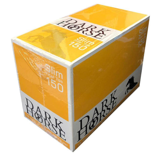DARK HORSE Slim Filter Tips150 Yellow