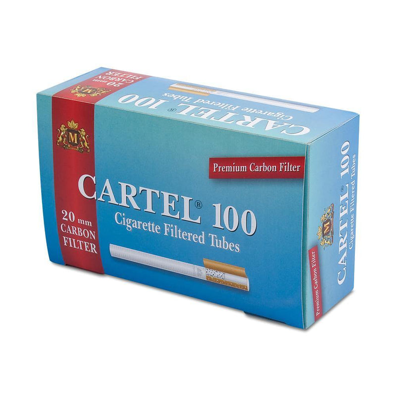 CARTEL - Premium Carbon Filter 20mm Tubes 100 - Cig Corp Wholesalers