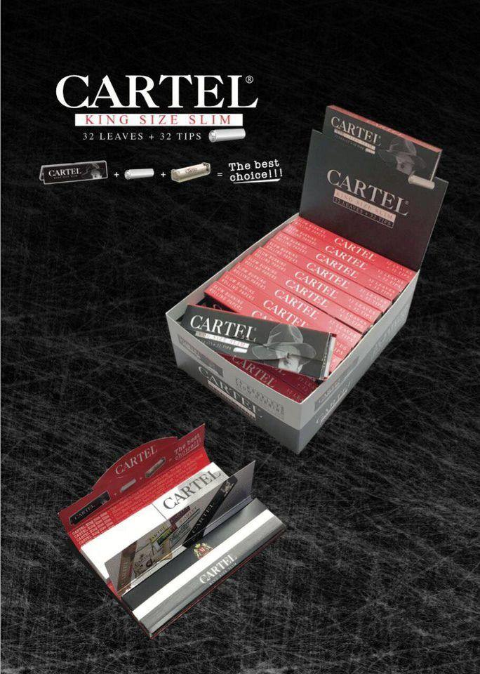 CARTEL Rolling Papers KING SIZE SLIM + TIPS - Cig Corp Wholesalers