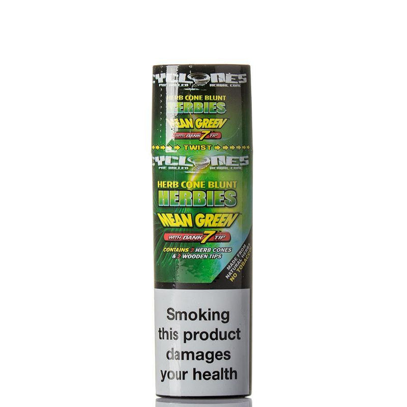 Cyclones Clear Cone Mean Green 24pk - Cig Corp Wholesalers
